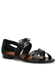 Carmen Marc Valvo Alana Lace Up Sandals Black
