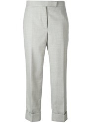 Thom Browne Tailored Cropped Trousers Grey