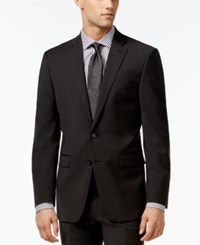 Calvin Klein X Fit Charcoal Solid Extra Slim Fit Jacket