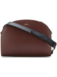 A.P.C. P.C.A.C. X Stefaniamode.Com Zipped Satchel Bag Brown
