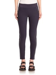 Stella Mccartney Contrast Stitch Miracle Leggings Dark Blue