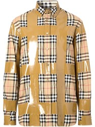 Burberry Tape Detail Vintage Check Oversized Shirt 60