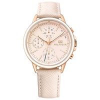 Tommy Hilfiger 'S Carly Chronograph Leather Strap Watch Blush 1781789
