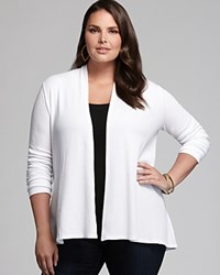 Three Dots Plus Slouchy Knit Cardigan White