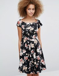 Pussycat London Floral Tea Dress Black
