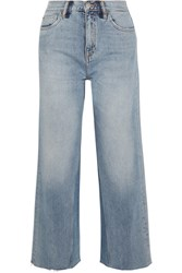 Mih Jeans M.I.H Caron Cropped High Rise Wide Leg Blue