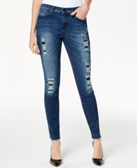 Dkny Jeans City Ripped Ultra Skinny Jeans Ave Wash