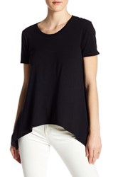 Candc California Willow Drapey Crew Tee Black