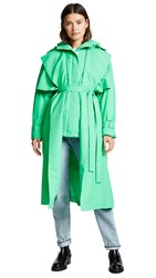 Paskal Puffer Coat With Trench Coat Fresh Green