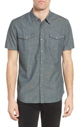 John Varvatos Men's Collection Trim Fit Snap Front Sport Shirt
