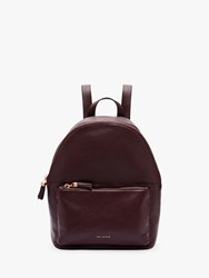 Ted Baker Mollyyy Leather Backpack Dark Purple