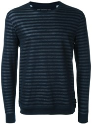John Varvatos Striped Sweater Blue