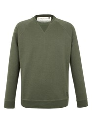 Racing Green Devon Panelled Marl Sweat Green