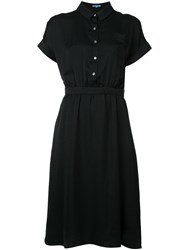 Guild Prime Flared Shirt Dress Women Polyester 36 Black