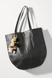 Anthropologie Nicola Tasseled Tote Bag Black