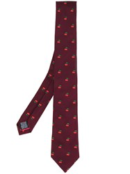Paul Smith Cherry Embroidered Tie Men Silk One Size