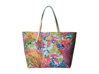 Lilly Pulitzer Resort Tote Multi Fishing For Compliments Tote Handbags