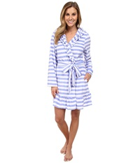 Betsey Johnson Vintage Terry Robe Mojito Stripe Song Blue Women's Robe