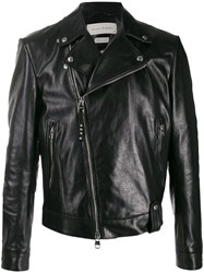 Alexander Mcqueen Off Centre Zipped Jacket Black