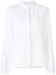 Diesel Black Gold Embroidered Voile Blouse White