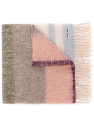 Paul Smith Ps Embroidered Logo Scarf Neutrals