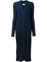 Maison Martin Margiela Ribbed Cardi Coat Blue