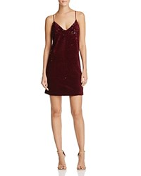 Kendall And Kylie Sequin Slip Dress Bloomingdale's Exclusive Oxblood