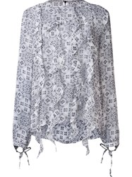 Thomas Wylde Silk 'Zappa' Blouse White