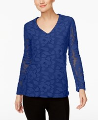 Inc International Concepts Burnout Illusion Top Only At Macy's Goddess Blue