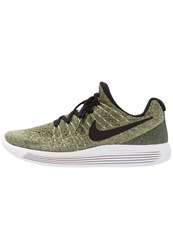 Nike Performance Lunarepic Flyknit 2 Neutral Running Shoes Palm Green Black Vapor Green Rough Green Sunset Glow