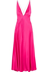 Michael Lo Sordo Alexandra Silk Satin Maxi Dress Pink