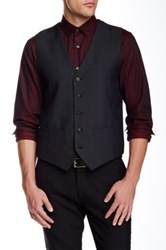 Perry Ellis Slim Jacquard Vest Black