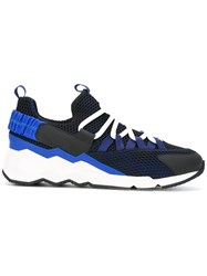 Pierre Hardy Lace Up Trainers Blue