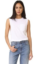 Baldwin Denim Jenn Muscle Tank With Pocket White