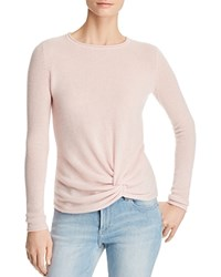 Bloomingdale's C By Twist Front Cashmere Sweater 100 Exclusive Light Pink