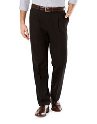 Dockers Big And Tall Signature Stretch Pleated Pants Black