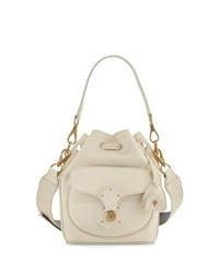 Ralph Lauren Small Drawstring Bucket Bag White