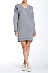 Painted Threads Neoprene Sweatshirt Dress Gray