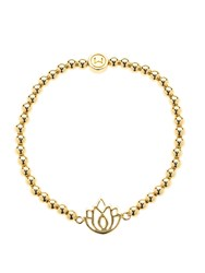 Melissa Odabash Gold Ball Lotus Stretch Bracelet Gold