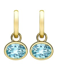 Kiki Mcdonough 18K Gold Eternal Blue Topaz Drop Earrings