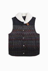 Missoni Men S Bomber Gilet Boutique1 Navy