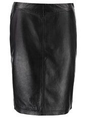 Soaked In Luxury Holly Alpha Leather Skirt Black