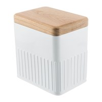 The Bakehouse And Co White Steel Storage Canister