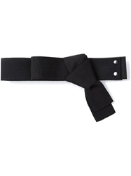 Lanvin Bow Embellished Belt Black