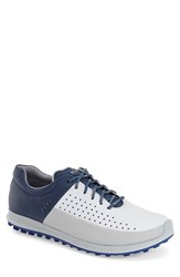 Men's Ecco 'Biom Hybrid 2' Golf Shoes Concrete White Blue Leather