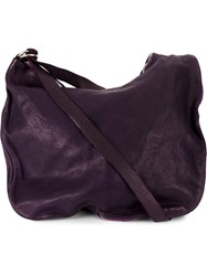 Guidi Zipped Shoulder Bag Pink And Purple