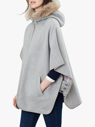 Brora Joules Everly Reversible Cape Grey Check