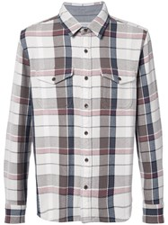 Outerknown Heavy Checked Shirt Men Cotton Xl Nude Neutrals