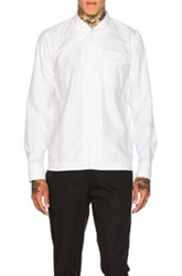 Kolor Open Collar Pocket Shirt In White