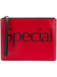 Christopher Kane 'Special' Clutch Red